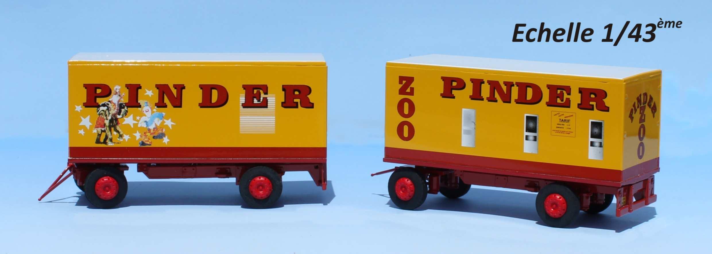 SAI 3856 HO Ensemble de 2 chariots élévateurs Cirque Pinder Neuf